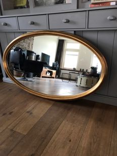 Gold-plated baroque mirror (122x70 cm), gold