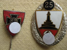 Germany Third Reich Warrior Federal 25 years member and member badges