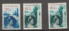 Netherlands 1931/1933 - Queen Wilhelmina photomontage - NVPH 236/237 + 237 with shifted red print