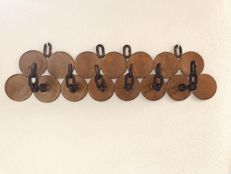 Unknown designer - Coat rack (wall hung) - Hand made