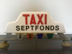 Vintage TAXI sign