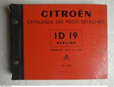 Catalogue of spare parts for Citroën ID 19-1957-1964