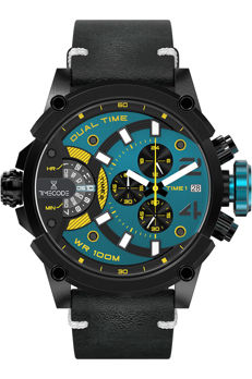 TimeCode Marconi 1896 Dual Time Chronograph NEW - Men's