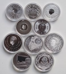 The Netherlands – €5 and €10, 2003/2011 (10 different ones) in capsules