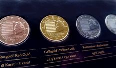Luxembourg - 2 euro 2013 'Precious Metals' - (4 different ones), refined in set