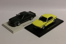 Spark - Scale 1/43 - BMW Alpina B7 S Turbo Coupe 1985 & BMW 3.0 CSL Injection 1973