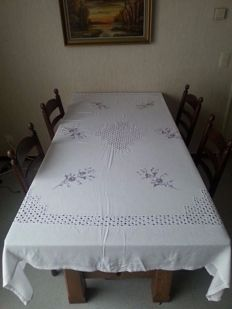 Beautiful hand embroidered tablecloth