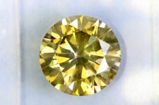 Fancy INTENSE Greenish Yellow –  1.58 ct – VS2 – * NO RESERVE PRICE *