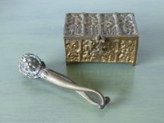 English Jewellery box and a nutcracker