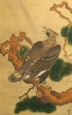 Eagle on a Pine Tree - Japan - 2nd half 19th century