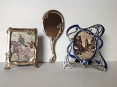 Picture frames and hand mirror in Art Deco style