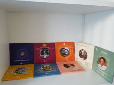 Netherlands - Theme sets with euro coins + medal 2003/2010 (8 different)
