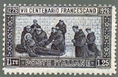Italy, 1926 – St. Francis, 7th anniversary of the death of the Saint,  mixed perforation – Sass. No. 199a