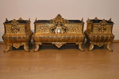 A set of 3 Bronze Ormolu Jardinieres - France - 19th century