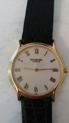 1.  Raymond Weil Geneve Vintage Model 210 18 kt Gold Electro-plated