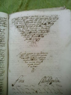 Manuscrito; P. Torrens - Philosophia - 1662