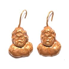 A pair of Roman Gold Earrings - L. 3 cm (1 1/4 inches)
