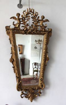 Gilded mirror - Louis XVI style - 19th century