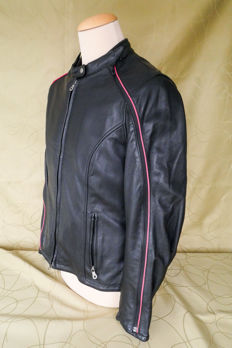Authentic Harley Davidson - Smooth/soft leather biker jacket - Size XL