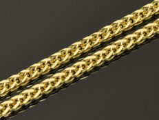 """18k Gold Necklace. Chain """"Wheat"""". Length 50 cm. No reserve price."""