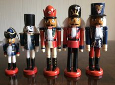 Five different nutcrackers