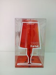 "Ferruccio Laviani for Kartell – ""Take"" amber table lamp"