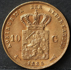 The Netherlands – 10 guilder coin 1885, Willem III – gold.