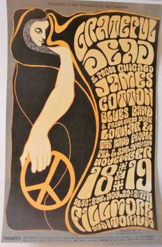 The Grateful Dead Fillmore Auditorium Poster San Francisco 1966