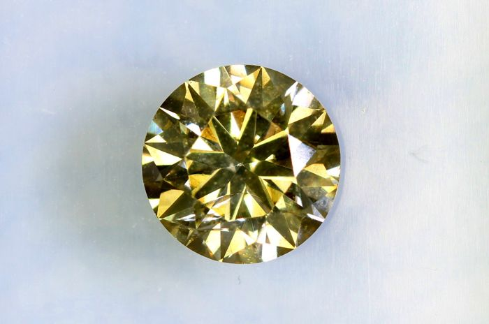 Fancy INTENSE Yellowish GREEN -  1.05 ct - SI2 - * NO RESERVE PRICE *