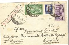 Italy 1944 - RSI (Italian Social Republic) - Lot of 6 letter