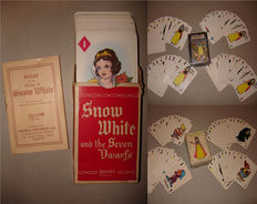 Disney, Walt - 3 Card Games - Snow White and the Seven Dwarfs (1938/ca. 1950's)