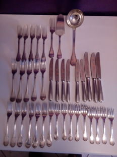Lot of 38 Sambonet cutlery pieces, 1950.