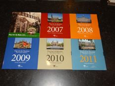 The Netherlands Dag vd munt 2006 to 2011 (6 sets) 1 cent to 2 euro + Silver commemorative coin