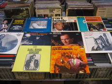 Big lot of 10 jazz.blues Albums,some very rare!! like: Sammy Price,George Lewis,Michael Becker,  Carl Bostic, Lois Armstrong, etc,etc