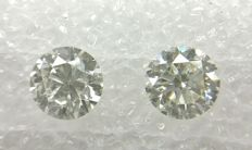 Couple of 2 Round cut diamonds total 1.83 ct G VS2   -No Reserve