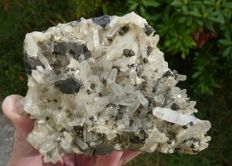 Nice combination of crystals on matrix chalcopyrite, quartz and pyrite - 11 x 8 cm - 438 g