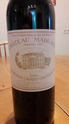 1986 Chateau Margaux Premier Grand Cru Classe - 1 bottle (75cl)