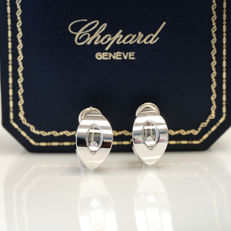 Chopard Happy Diamonds - Clip-on earrings - 0.2 ct diamond - 18 kt white gold - 84/3747 - 23.6 g - Measurements: 22 mm high x 13 mm wide