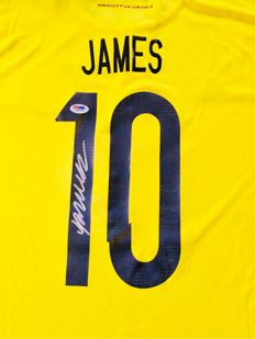James Rodriguez #10 /Colombia - Signed Home Jersey -  with Certificate of Authenticity PSA/DNA