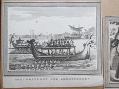 Lot with 7 copper engravings about the former Dutch Indies - 1784-1787