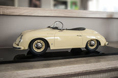 Unique Hand made Model - Scale 1/8 - Porsche 356 A Speedster - Champagne Yellow