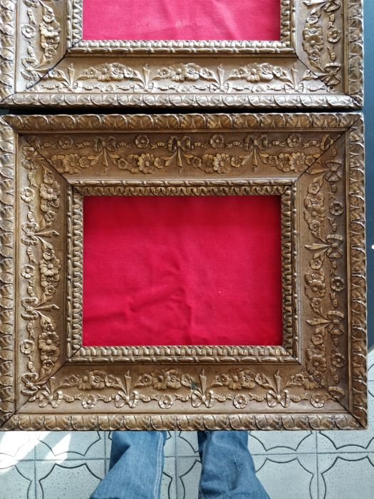 Pair of plaster frames - end of the 19th century, early 20th century ...