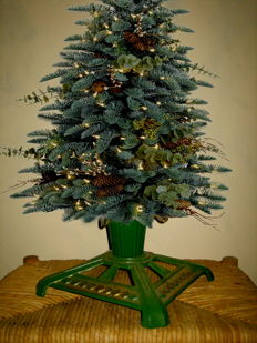Cast iron Christmas tree stand 1940s