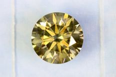 Fancy Deep Yellowish Green - 1.05 ct - Si1
