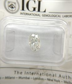 1.00 ct Oval cut diamond D SI2   -No Reserve