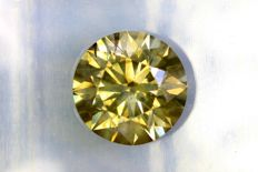 Fancy Intense Yellowish Green - 1.52 ct - Si1 - Excellent cut