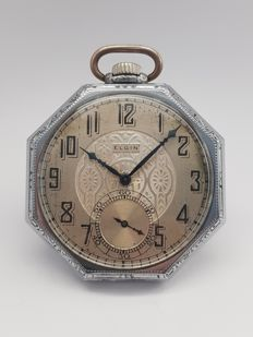 Elgin Watch Company - Rare Spartan Case - Pocket Watch Serial 28137810 - Heren - 1901-1949