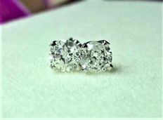 14kt earrings with 0.25ct diamonds, no reserve