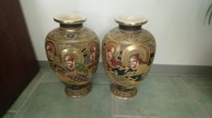 Two Satsuma vases – Japan – 1920/1940s