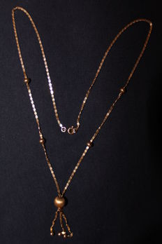 19 kt gold necklace (50 cm) with pendant